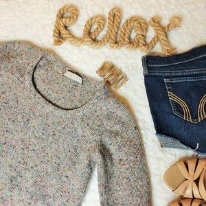 Stella McCartney Taupe Cashmere Peplum Sweater 40